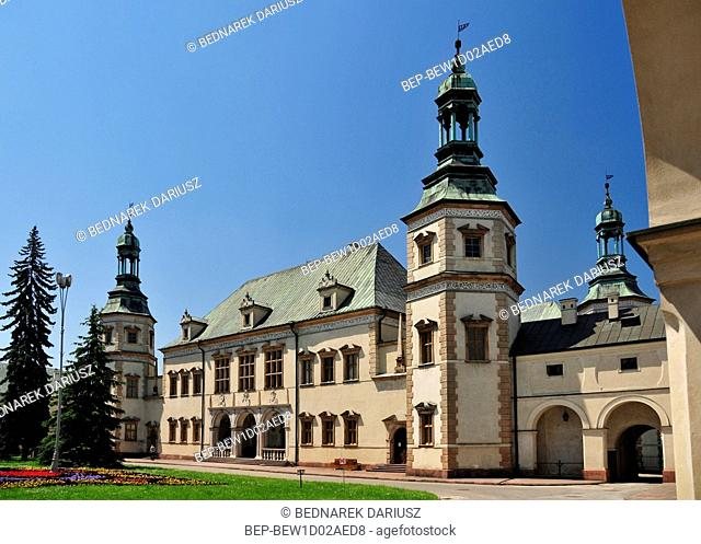 Palace of the Krakow Bishops in Kielce, Swietokrzyskie Voivodeship, Poland