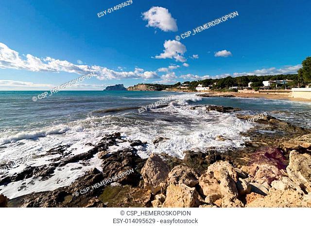 Moraira coastline