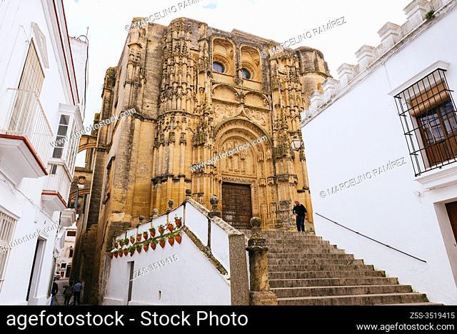 Gothic-Plateresque portal. Basílica de Santa María de la Asunción, erected after the Reconquista on a Visigothic temple and the remains of a 13th and 14th...