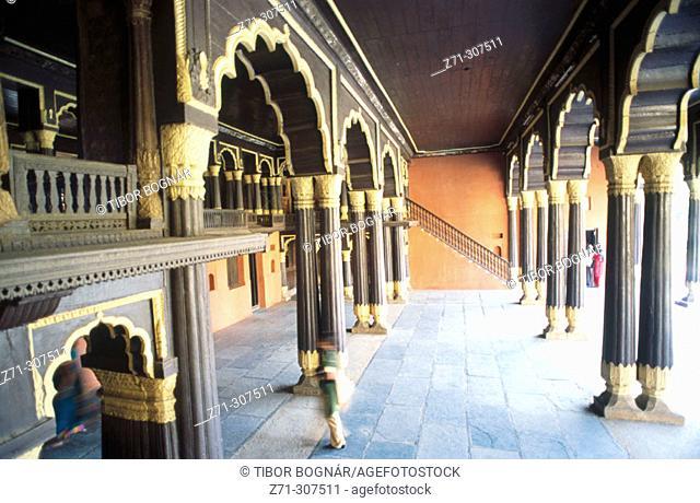Tipu Sultan's summer Palace. Bangalore. Karnataka State. India