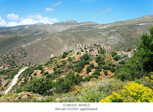 Vathia, Mani, Laconia, Peloponnese, Greece