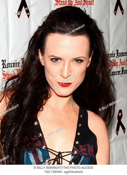"""Calico Cooper arrives at the 3rd Annual """"""""Bowl 4 Ronnie"""""""" Celebrity Bowling Tournament, benefiting the """"""""Ronnie James Dio Stand Up and Shout Cancer Fund fund""""""""..."""