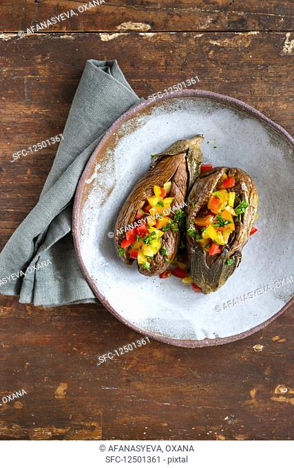 Eggplants with tomatoes