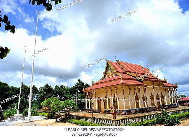 Pagoda and cemetery of Sen Monorom, Mondukiri, Cambodia