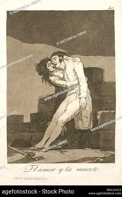 El amor y la muerte. Avery, Samuel Putnam, 1822-1904 (Collector) Goya, Francisco (1746-1828) (Artist) Rossetti, Dante Gabriel (1828-1882) (Former owner)