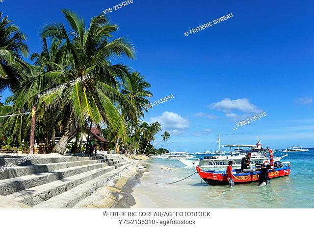 Alona beach at Panglao,Bohol island , Philippines,South East Asia