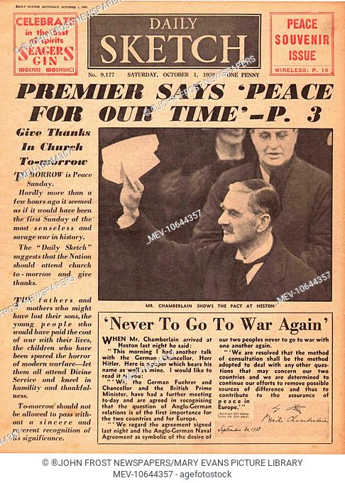 Munich Agreement Peace Stock Photos And Images Age Fotostock