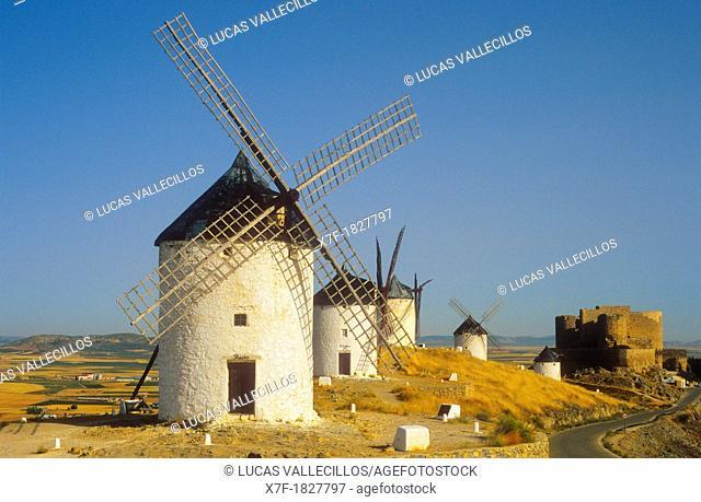 Windmills, Consuegra, province of Toledo, Castilla La Mancha, the route of Don Quixote, Spain