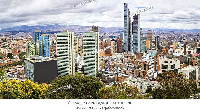 City Views, Monserrate hill, Cundinamarca, Colombia, South America