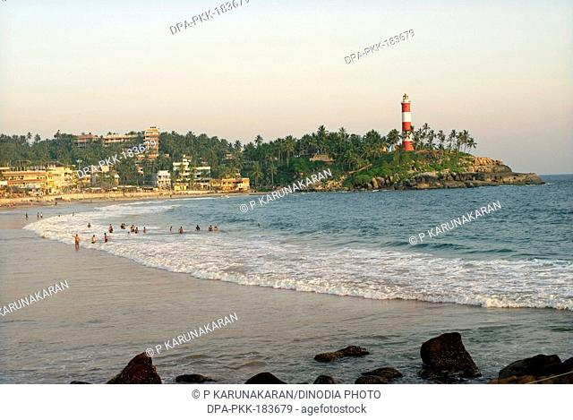 Kovalam beach at trivandrum kerala India