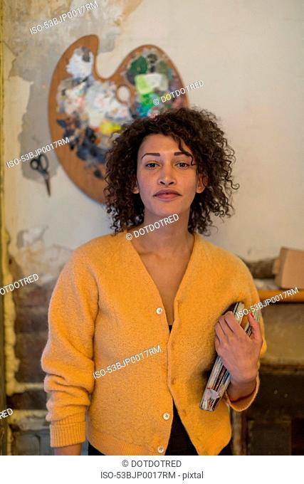 Artist standing in studio