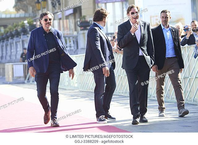 Javier Bardem, Carlos Bardem, Alvaro Fernandez Longoria attended 'Sanctuary' Premiere' Premiere during 67th San Sebastian Film Festival at Victoria Eugenia on...