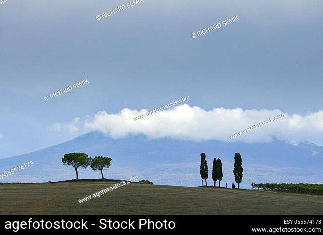 Picturesque autumn landscape, Tuscany, Italy, Europe