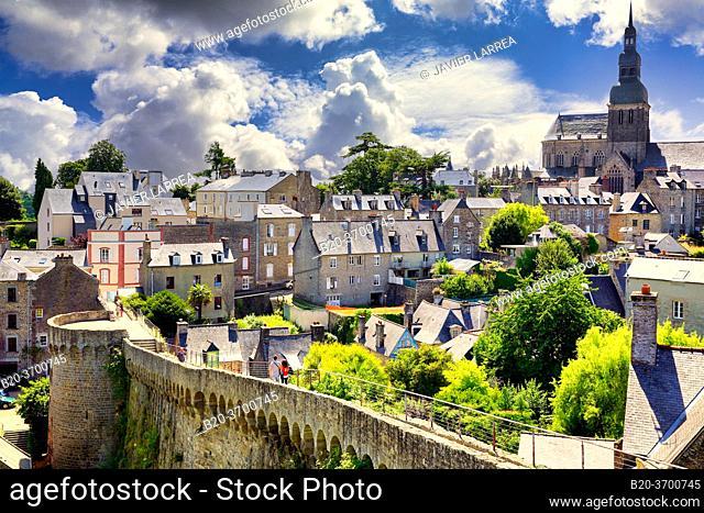 Le Bastion Mercoeur ou le Grand Fort, Dinan, Bretagne, Brittany, France