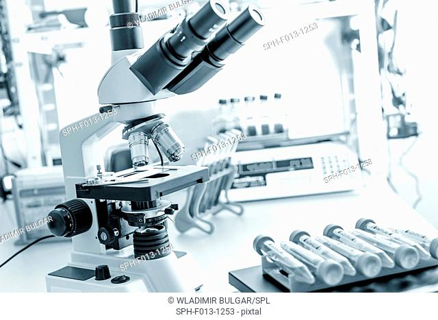 Microscope in the laboratory