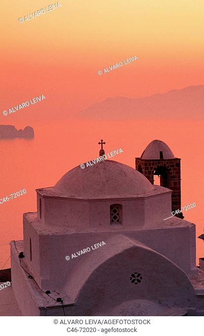 Church, Milos island. Cyclades island, Greece