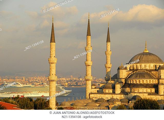 Sultanahmet Camii, Blue Mosque, Istanbul, Turkey