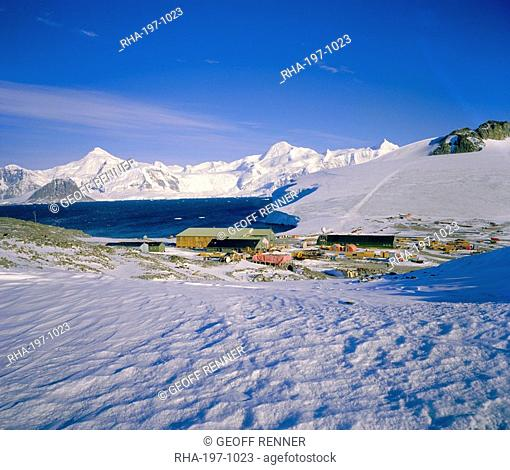 British Antarctic Survey base at Rothera, Antarctica