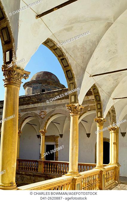 Europe, Spain, Andalucia, La Calahorra castle interior