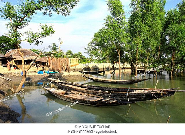 Fishing boat at Sundarban A UNESCO World Heritage Site, the Sundarbans is the largest mangrove forest in the world and lies on a delta at the mouth of the...