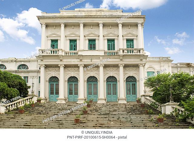 Facade of a building, National Library of India, Kolkata, West Bengal, India