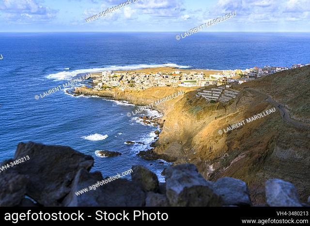 The Village of Ponta do Sol, Hiking from Cruzinha da Garça to Ponta do Sol, Ribeira Grande Municipality, Santo Antao, Cape Verde Islands, Africa