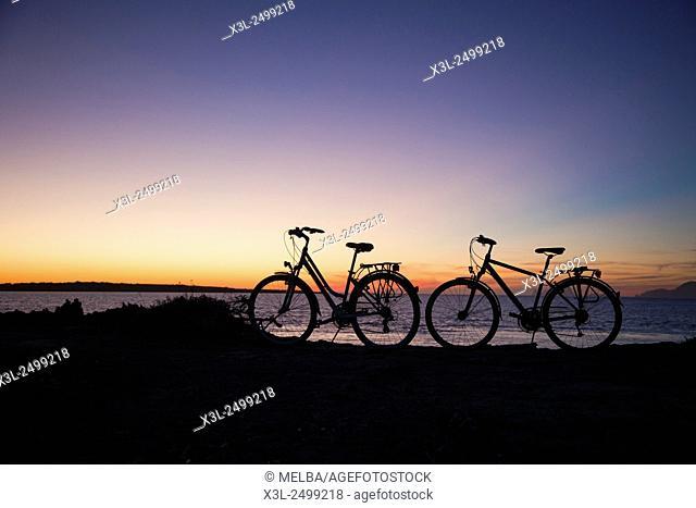 Estany des Peix, Parque Natural de Ses Salines, Formentera. Balearic Islands. Spain
