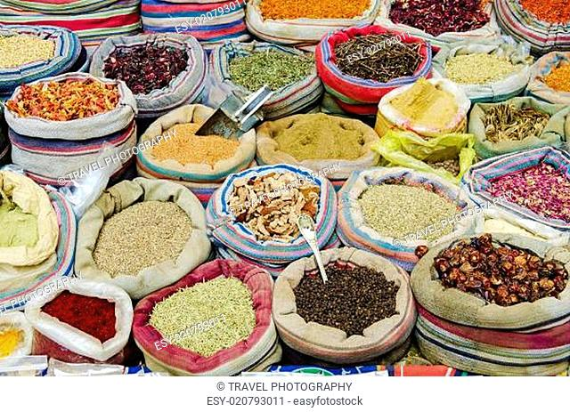 mixed spices in market of cairo egypt