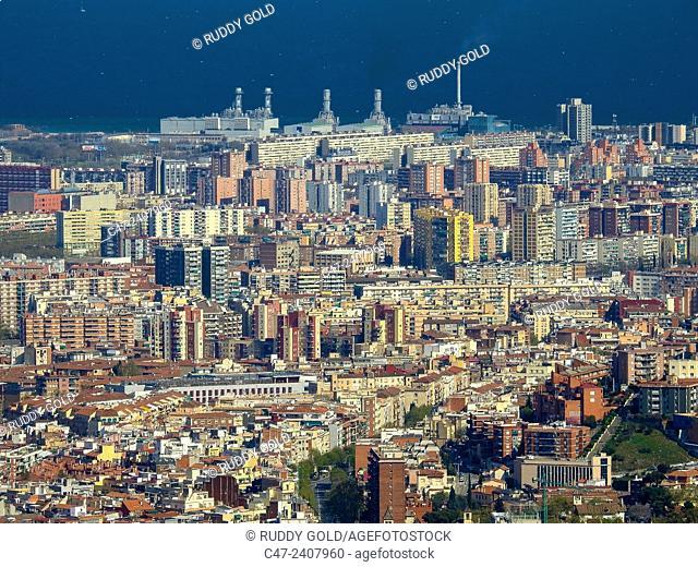 Waste incinerator, Besos , Barcelona , Catalonia , Spain