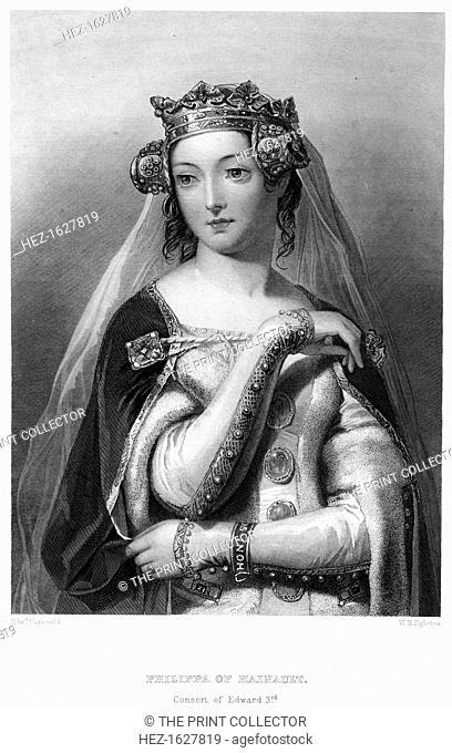 Philippa of Hainault (1314-1369), Queen consort of Edward III