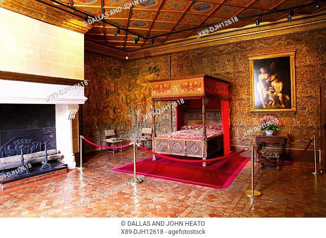 France, Loire Valley, Indre- et- Loire, Chenonceaux, Château de Chenonceau, Catherine de Medici's Bedroom