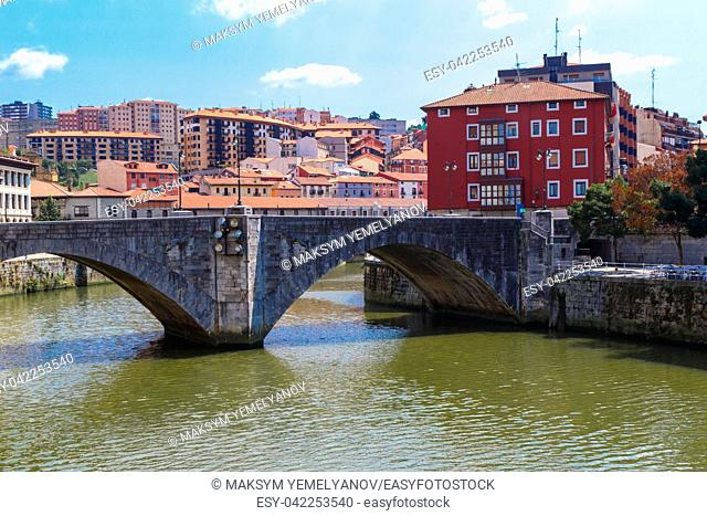 San Anton bridge is an arch bridge in Bilbao, Basque country. Spain