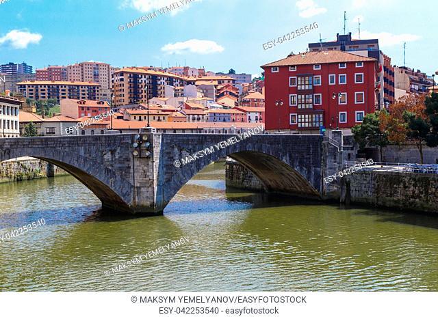 San Anton bridge is an arch bridge in Bilbao, Basque country. Spain