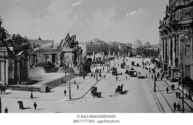 Kaiser Wilhelm National Monument, Berlin, Germany, Europe, historical photo from around 1899