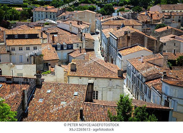 Tiles rooftops at Saintes France