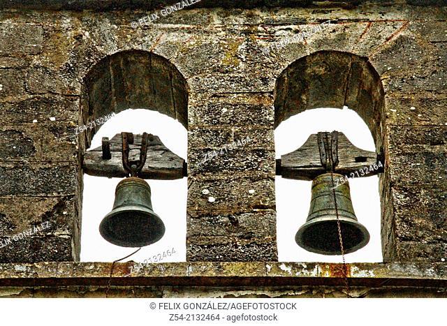 Hermitage bell tower in the primitive Saint James way, Asturia, Spain