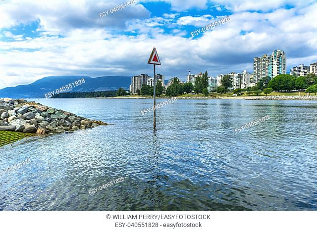 English Bay Fraser River By Granville Bridge Vanier Park Vancouver British Columbia Canada Pacific Northwest