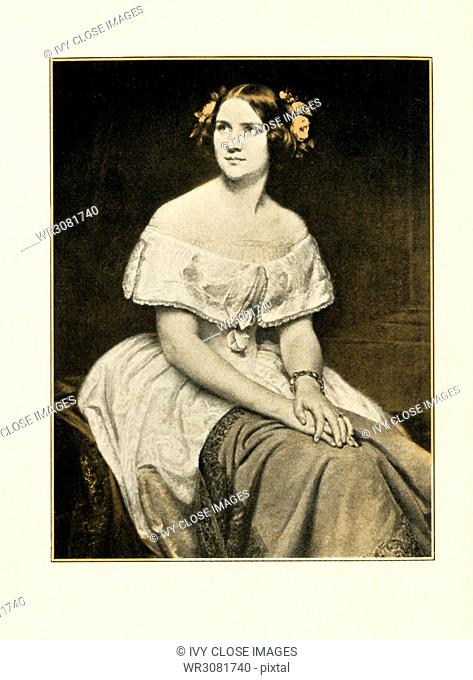 This photo/illustration shows Jenny Lind (1820-1887), who was once called one of the finest pearls in the world's chaplet of song