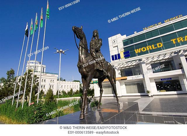 Rider statue at the World Trade Complex, Ashgabat, Turkmenistan