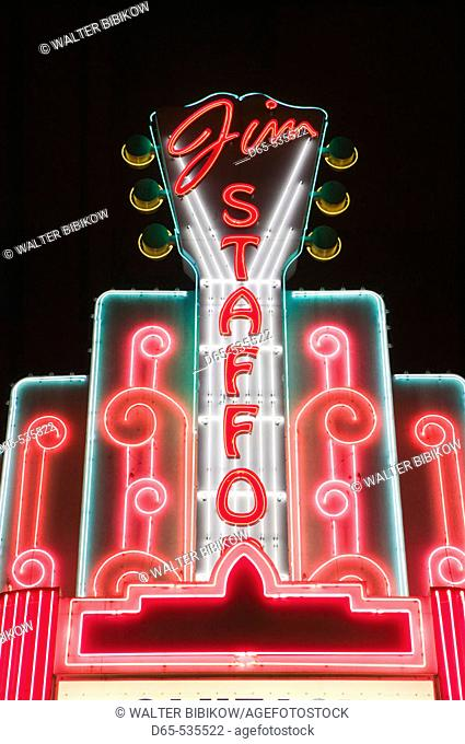 Country Music Mecca of the Midwest. Jim Stafford Theater Marquee. Branson. Missouri. USA