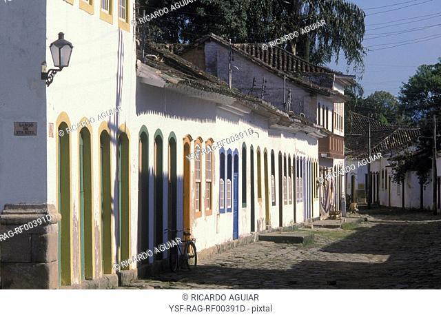 Houses, Parati, Rio de Janeiro, Brazil
