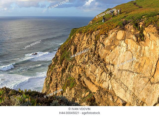 Cabo da Roca, Cape Roca, westernmost extent of continental Europe, near Lisbon, Portugal