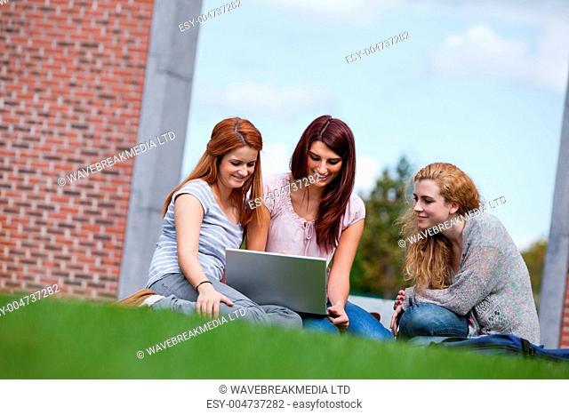 Young women using a laptop