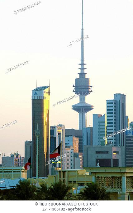 Kuwait, Kuwait City, Liberation Tower, skyline