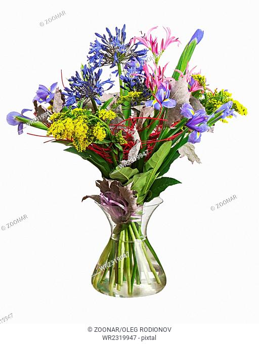 Colorful flower bouquet arrangement centerpiece in