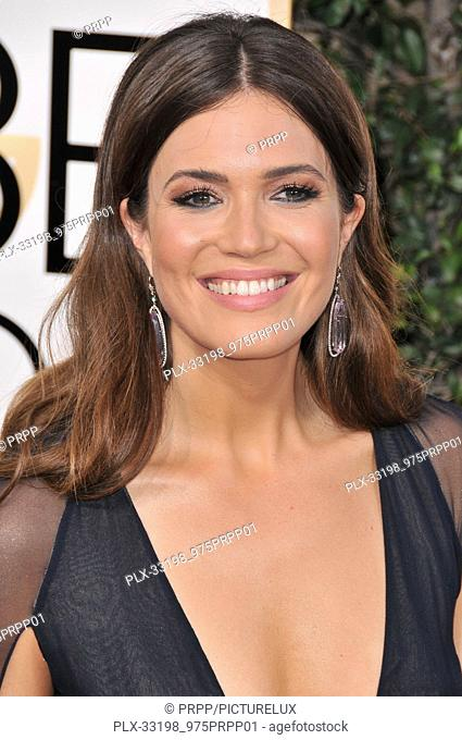 Mandy Moore at the 74th Annual Golden Globe Awards held at The Beverly Hilton Hotel in Beverly Hills, CA , USA , January 8, 2017