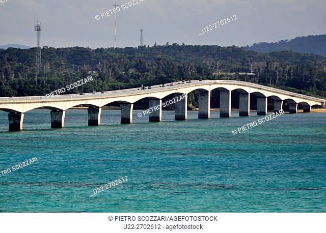 Kouri Island, Okinawa, Japan: long bridge