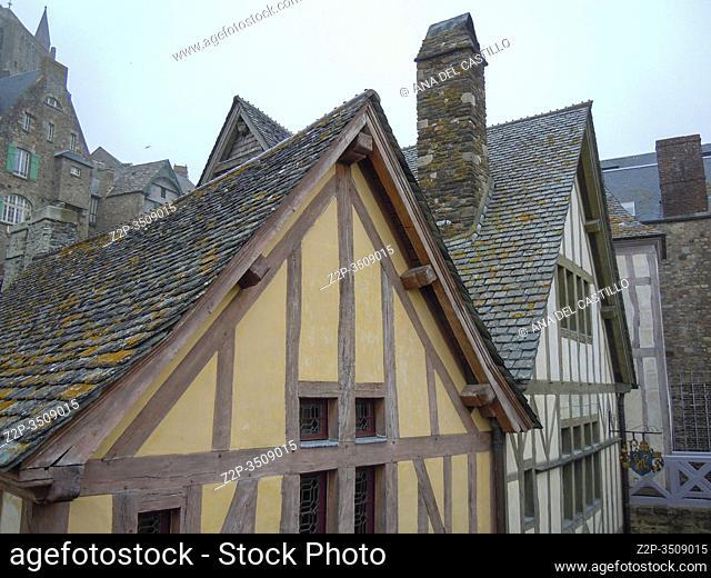 Mont Saint Michel, Normandy, Bretagne, France. St Michael Mount