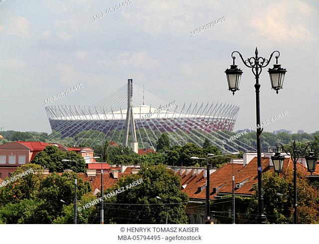 The National Stadium, (Stadion Narodowy) in Warsaw, Poland