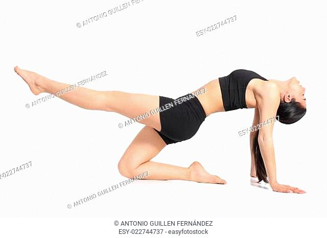 Fitness woman doing abdominal exercises